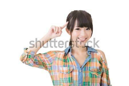 Young pretty woman get an idea Stock photo © elwynn