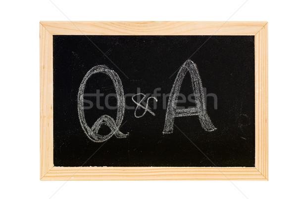Lousa escrita branco palavras madeira escolas Foto stock © elwynn