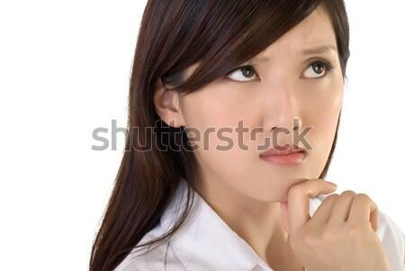 Preocupado negocios dama cara primer plano retrato Foto stock © elwynn