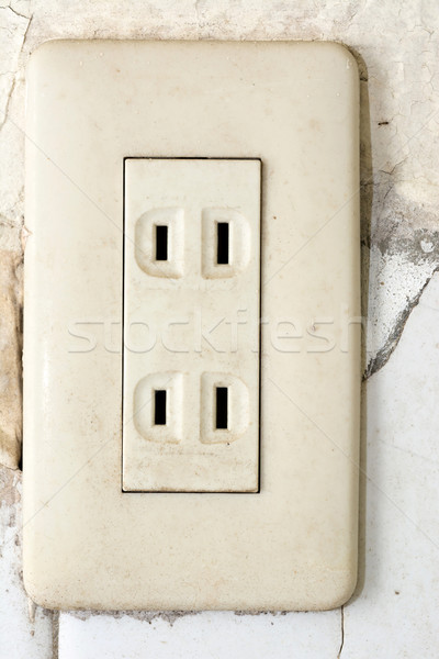 Socket, electrical outlet Stock photo © elwynn