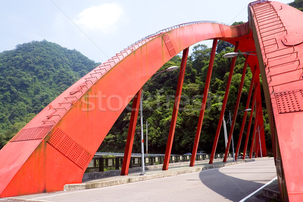 red big bridge on the land Stock photo © elwynn