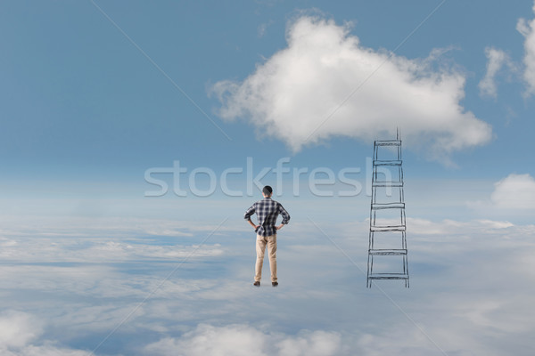 Concept of access to clouds Stock photo © elwynn