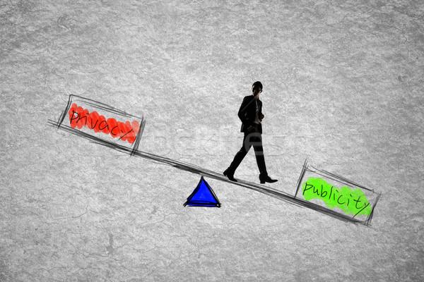 Magánélet egyensúly férfi információ adat személy Stock fotó © elwynn
