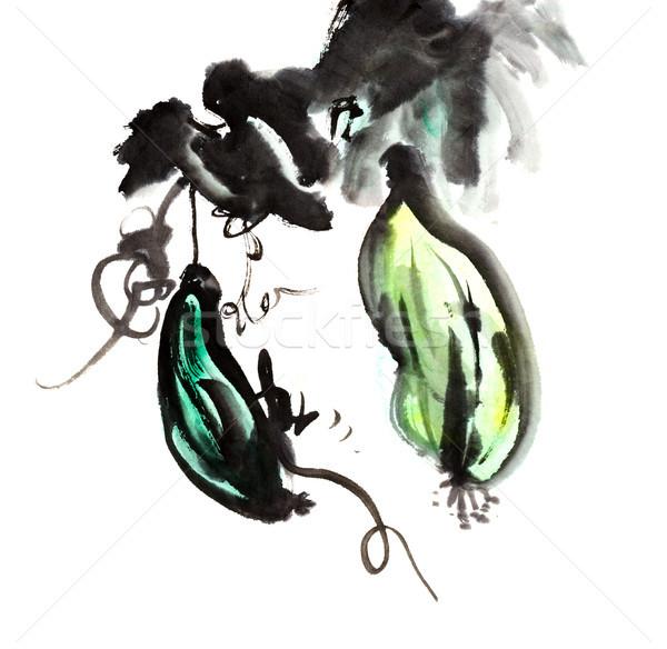 Esponja pepino chinês tradicional nosso pintura Foto stock © elwynn