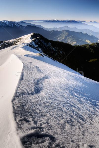 Snow mountain scenic Stock photo © elwynn