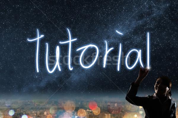 Concept of tutorial Stock photo © elwynn