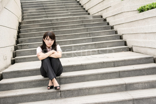Preocupado mujer de negocios triste mujer de negocios fuera Foto stock © elwynn
