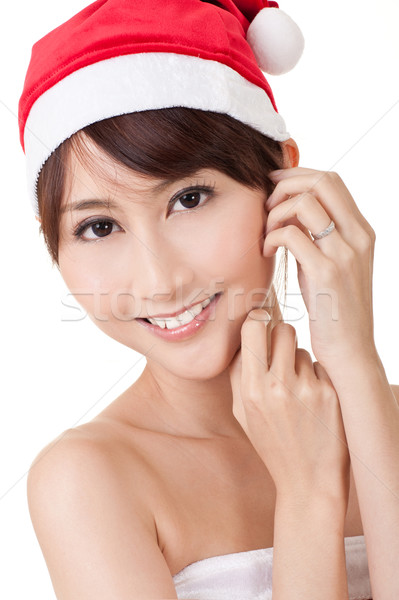 Stock photo: Asian Christmas lady