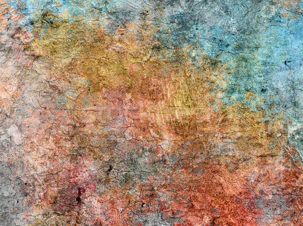 Grunge pared textura interior edad sucia Foto stock © elwynn