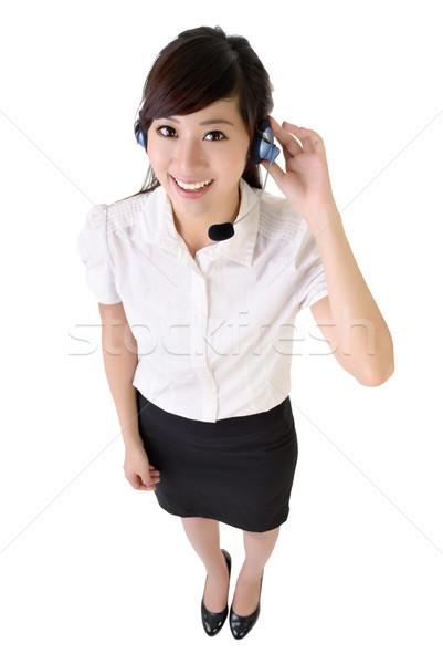 Asian klantenservice portret geïsoleerd witte Stockfoto © elwynn