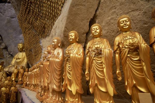 Buda altın Malezya Asya Paskalya sanat Stok fotoğraf © elwynn