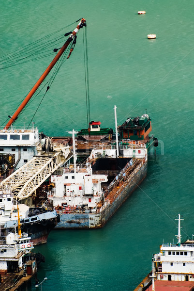Foto stock: Colorido · barcos · puerto · muchos · playa · trabajo