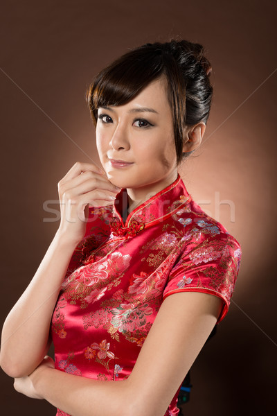 Attractive Chinese woman Stock photo © elwynn