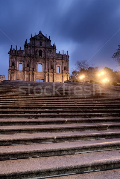 Macao landmark - Ruins of St. Paul's Stock photo © elwynn