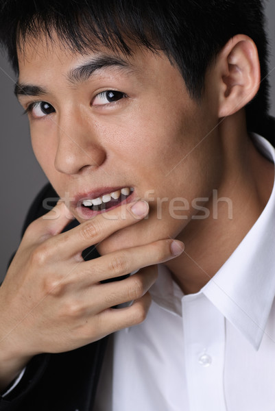 Deceitful businessman Stock photo © elwynn