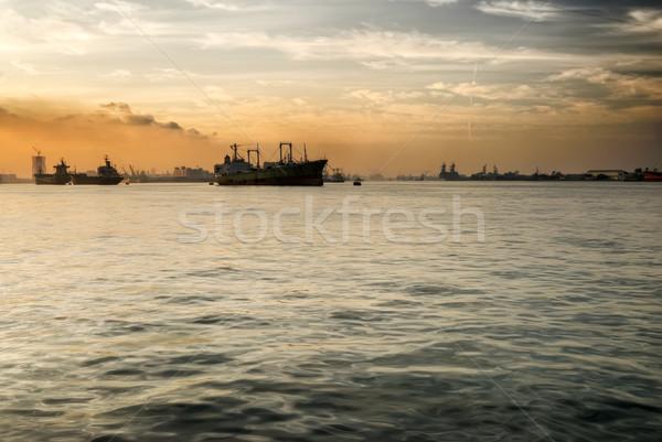 Harbor morning Stock photo © elwynn