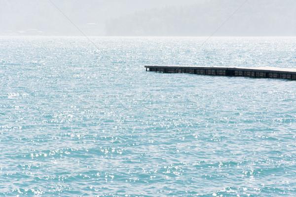 Dok wody słońce księżyc jezioro Tajwan Zdjęcia stock © elwynn