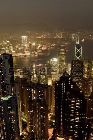 Moderna nocturna de la ciudad alto edificios Taiwán Asia Foto stock © elwynn