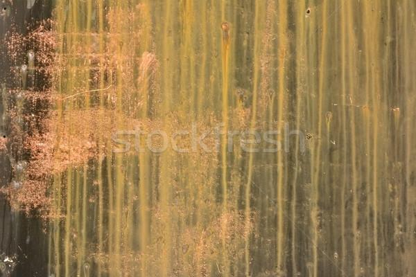 Stock fotó: Grunge · fém · fém · textúra · fal · terv · narancs