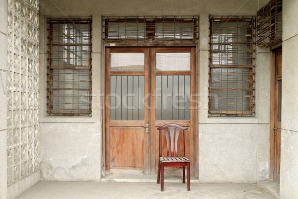 Nostalgic Chinese old building exterior Stock photo © elwynn