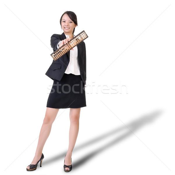 Chińczyk działalności pani liczydło kobieta Zdjęcia stock © elwynn