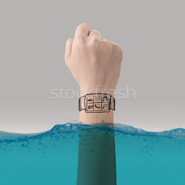 Smart watch concept of waterproof Stock photo © elwynn