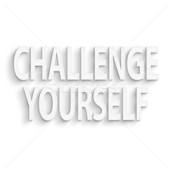 挑戦 あなた自身 文字 壁 紙 赤 ストックフォト © elwynn