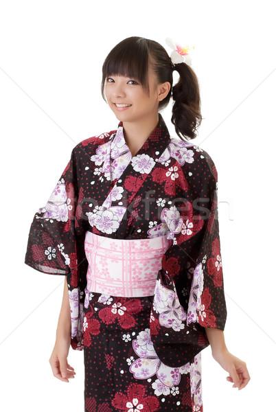 молодые Японский девушки улыбаясь традиционный одежды Сток-фото © elwynn