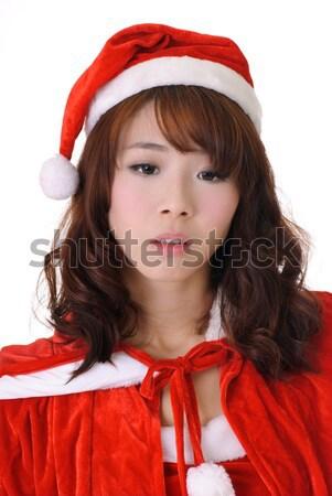Karácsony lány boldog fiatal izgalmas meglepődött Stock fotó © elwynn