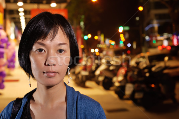 Modern Asian woman Stock photo © elwynn