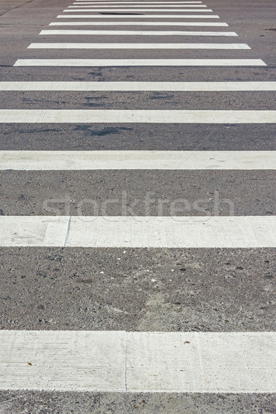 Zebra pedestrian crossing Stock photo © elwynn