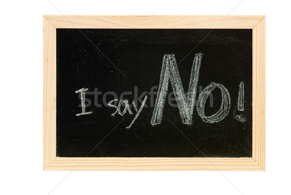 Lousa escrita branco palavras não textura Foto stock © elwynn