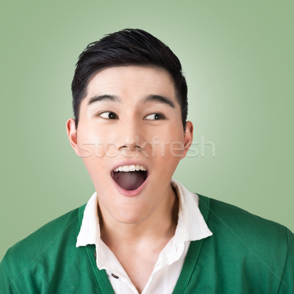 Funny facial expression Stock photo © elwynn
