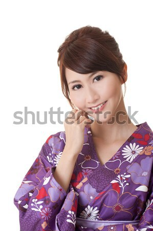 Aantrekkelijk jonge vrouw traditioneel kleding naar Stockfoto © elwynn