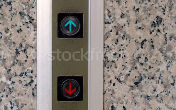 elevator button of up and down sign Stock photo © elwynn