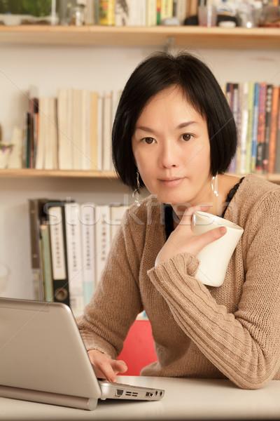Woman at home Stock photo © elwynn