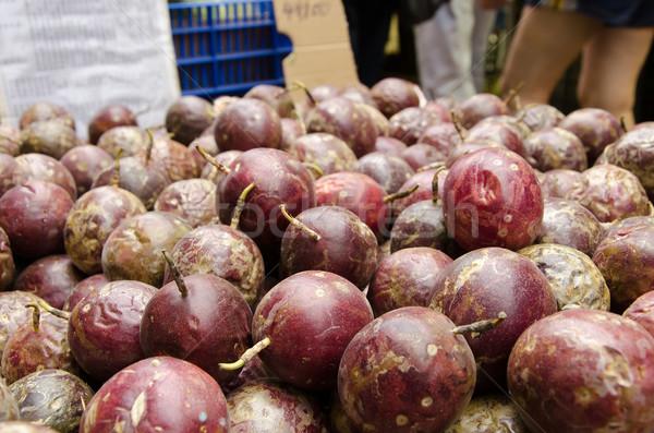 Szenvedély gyümölcs piactér Tajvan Ázsia friss Stock fotó © elwynn