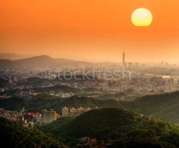 Taipei sunset Stock photo © elwynn