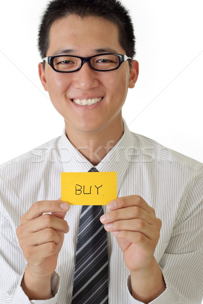 Shopping business man Stock photo © elwynn