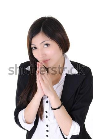 Modląc młodych kierownik patrząc portret Zdjęcia stock © elwynn