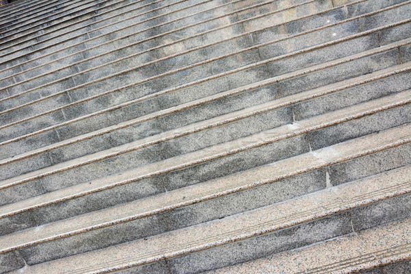 Kő lépcsőfeljáró festői tiszta nyilvános fém Stock fotó © elwynn