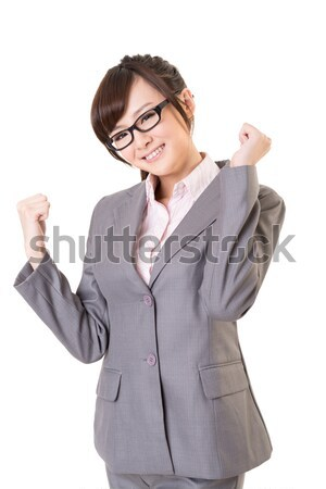 Exciting Asian business young woman Stock photo © elwynn