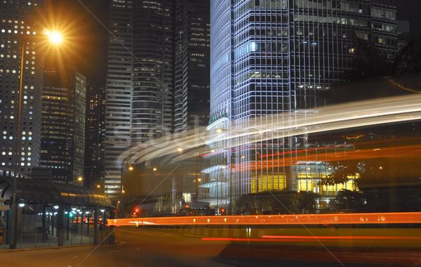 Nowoczesne Night City samochodu ruchu zamazany streszczenie Zdjęcia stock © elwynn