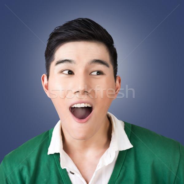 Funny facial expression Stock photo © elwynn