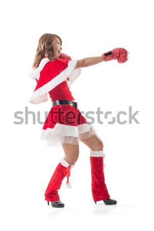 Navidad nina algo plantean Foto stock © elwynn