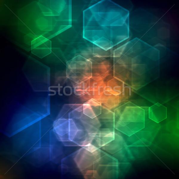 抽象的な 技術 コンピュータ 背景 スペース ネットワーク ストックフォト © elwynn