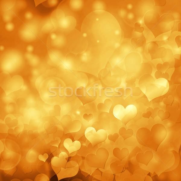 Hart bokeh abstract liefde ontwerp Stockfoto © elwynn