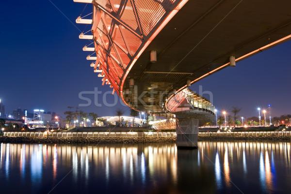 City Night kleur brug business water weg Stockfoto © elwynn
