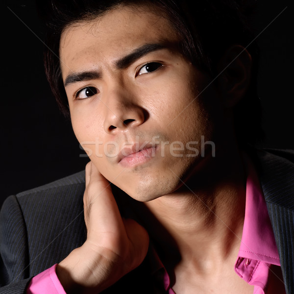 Cool Asian young businessman Stock photo © elwynn
