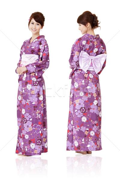 Японский женщину традиционный одежды кимоно Сток-фото © elwynn